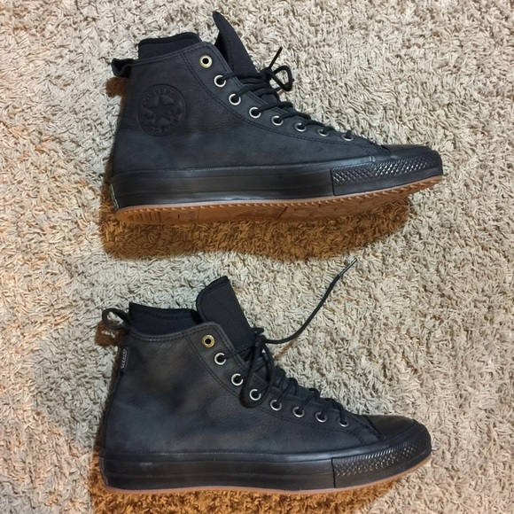 Converse Chuck Taylor All Star Waterproof Nubuck Men s Boot High Dark  Sangria Gum 157458C Source · Converse Shoes Waterproof Leather High Top Boot  Poshmark 875cfa5af